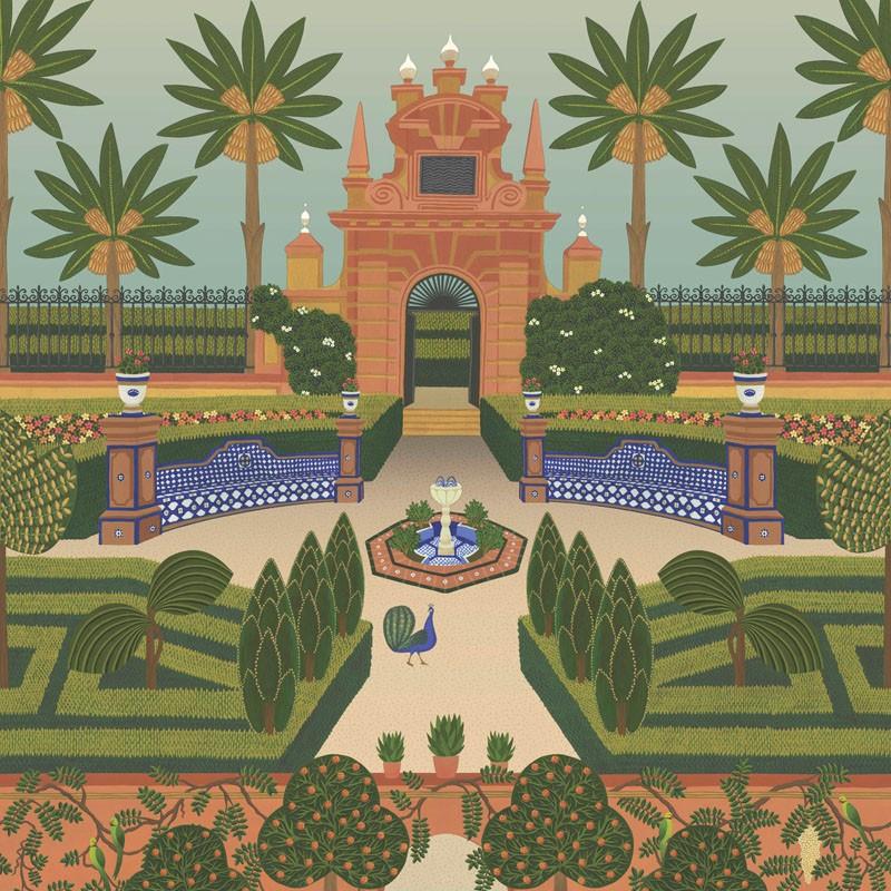 Papel pintado Cole & Son Sevilla Alcazar Gardens 117-7020
