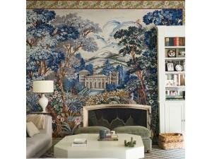 Mural Coordonné Metamorphosis Tapestry Blue 8800141