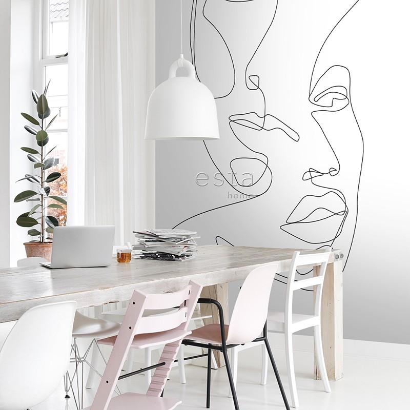 Black & White 158933 Mural ESTAhome 155-158936