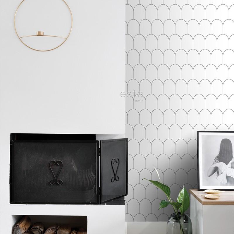 Black & White ESTAhome Papel Pintado 139140