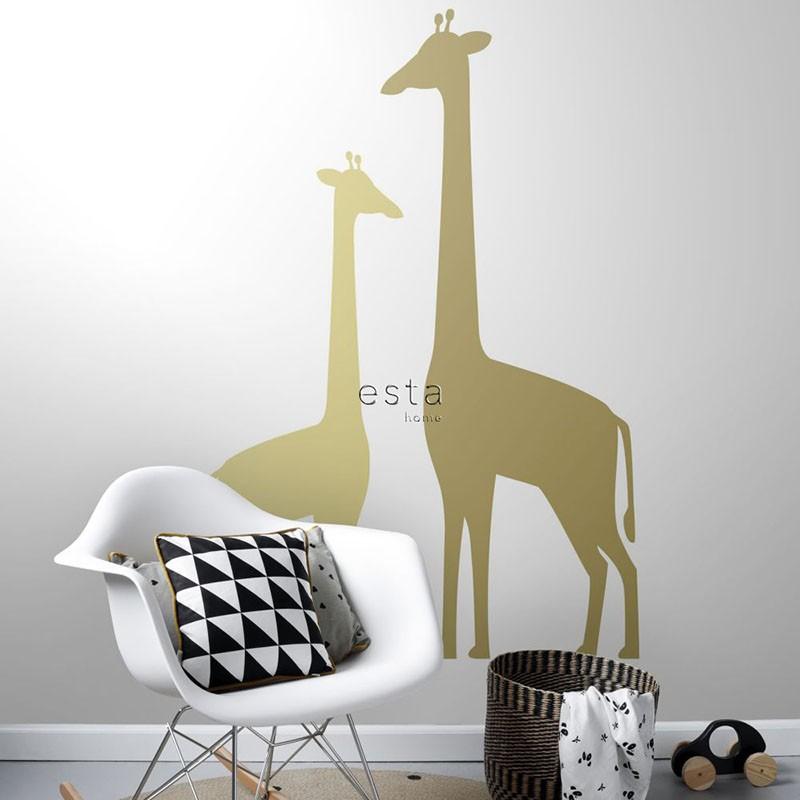 Mural infantil ESTAhome Let's Play!  Giraffes 153-158925