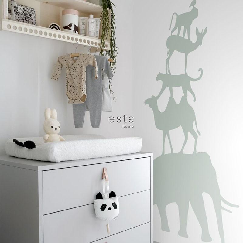 Mural infantil ESTAhome Let's Play!  Stack of Animals 153-158921