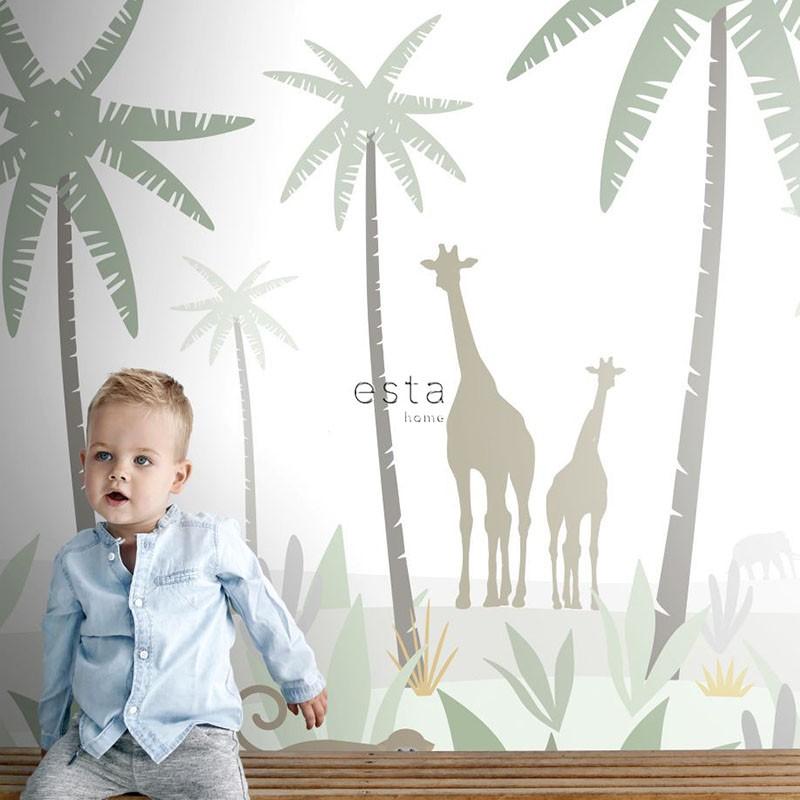 Mural infantil ESTAhome Let's Play!  Jungle Animals 153-158928