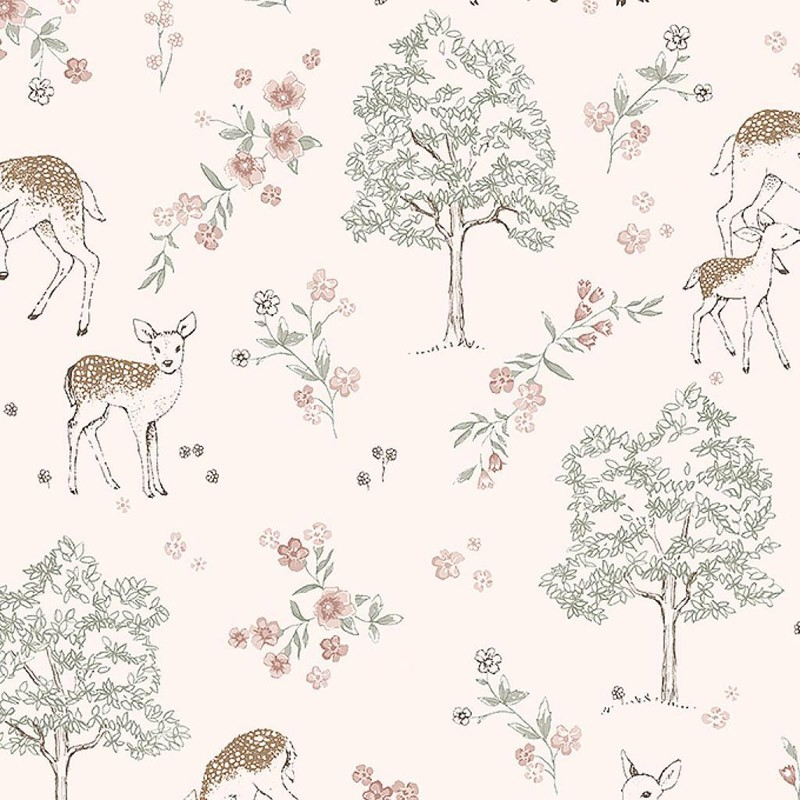 Papel pintado infantil Boras Tapeter Newbie Deer Love 7473