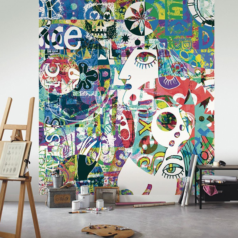 Mural Casadeco Beauty Full Image Big Eyes BFI68294456