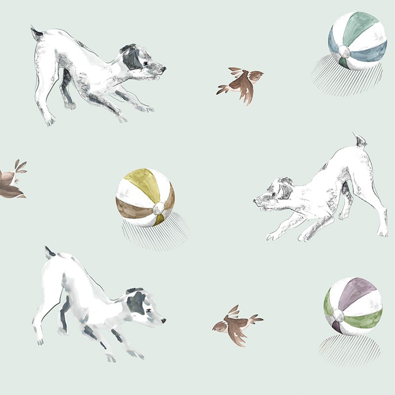 Papel Pintado AtelierWall Collection 2021 Playful Pets A20 003