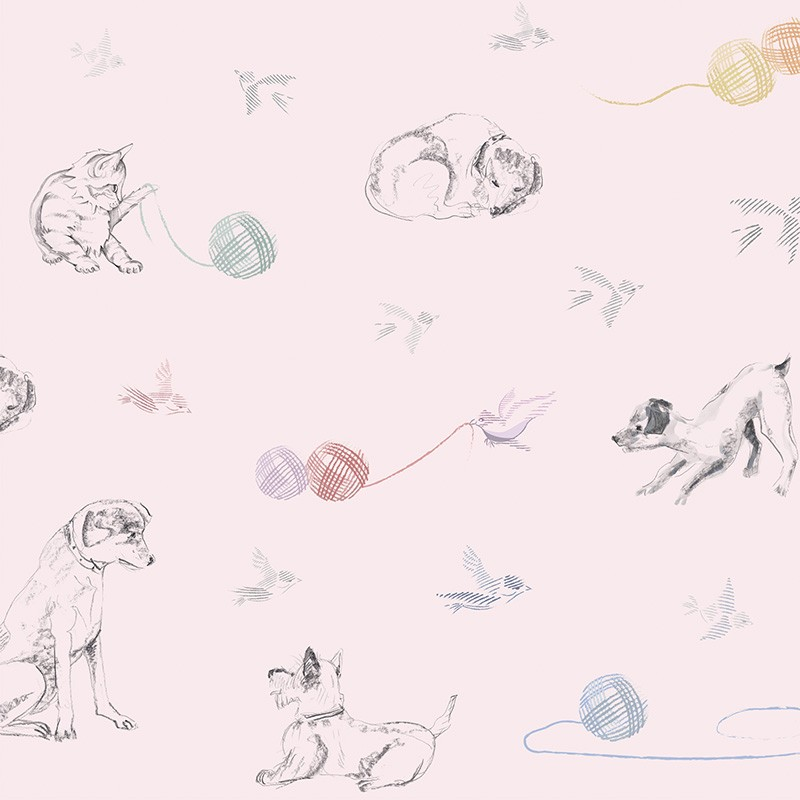 Papel Pintado AtelierWall Collection 2021 Best Friends Pink A20 006