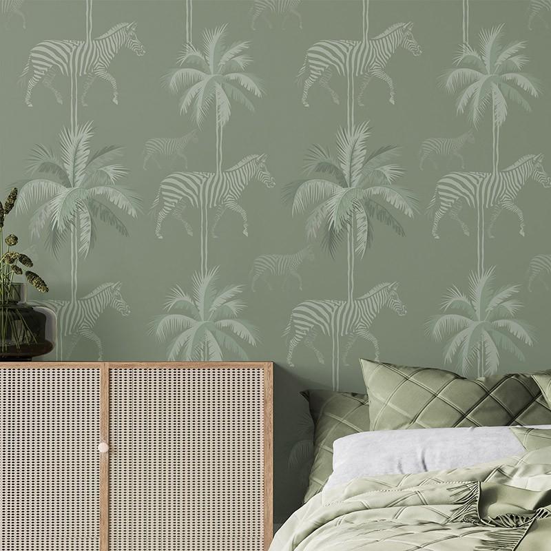 Papel Pintado AtelierWall Collection 2021 Zebra Green A20 015