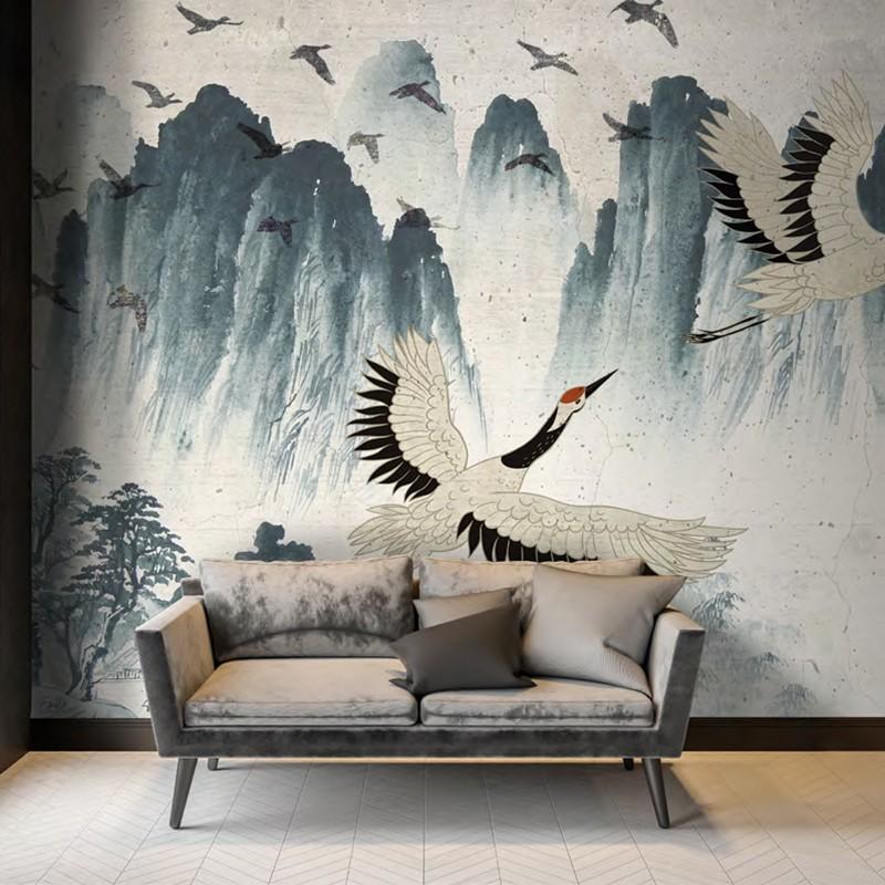 Mural decorativo PD Essentials Flyng Cranes PD-752-009