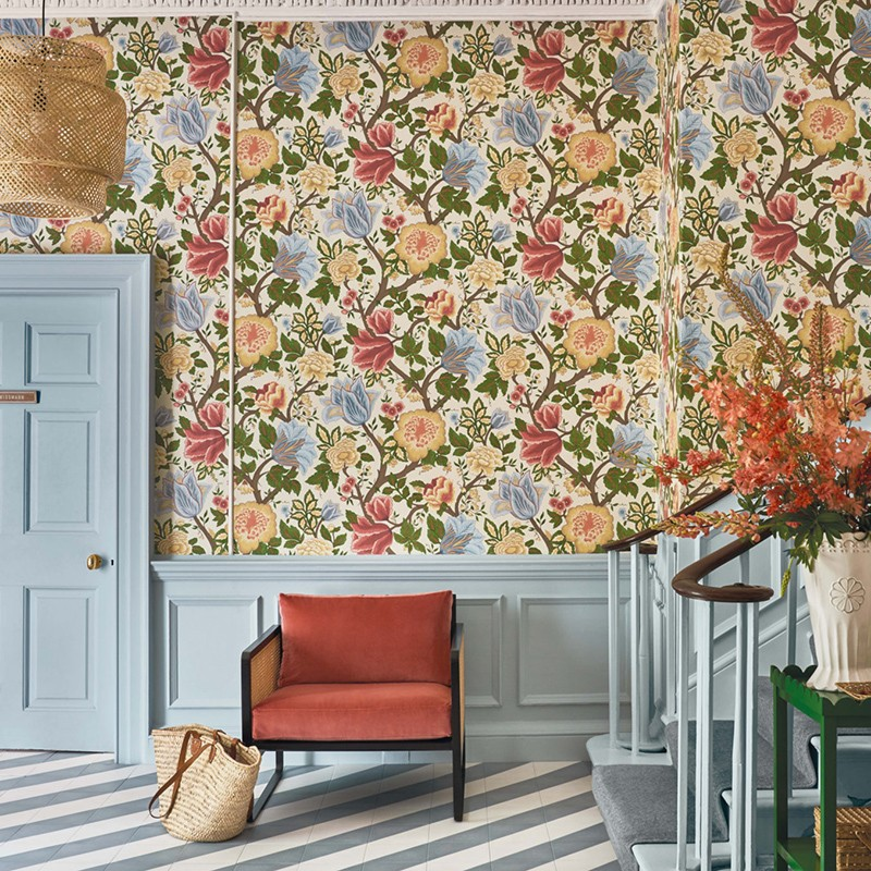 Papel pintado Cole & Son The Pearwood Midsummer Bloom 116/4013