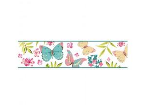 Cenefas florales decorativas para decoraci n de paredes papeles pintados - Cenefas decorativas infantiles ...