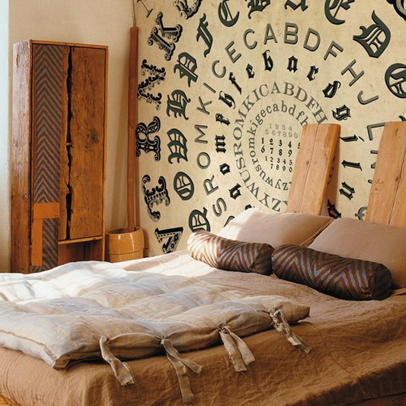 Mural Wall&Deco Contemporary Wallpapers 2011 Alphabetical Swirl WDAS1101 A