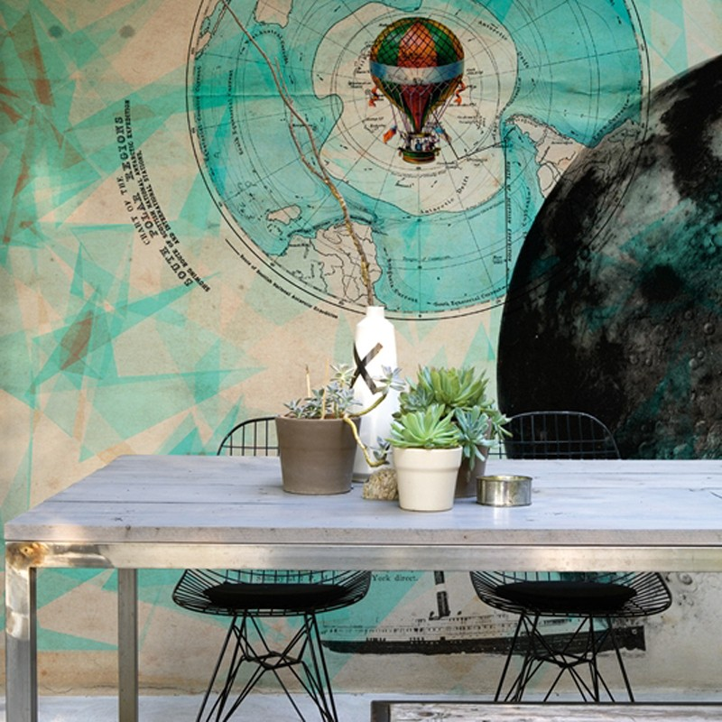 Mural Wall&Decò Contemporary Wallpapers 2013 Man on the moon WDMM1301 A