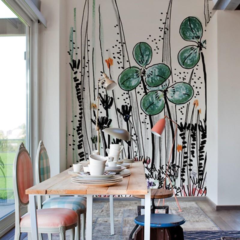 Mural Wall&Decò Contemporary Wallpapers 2014 Gouache WDGO1402 A