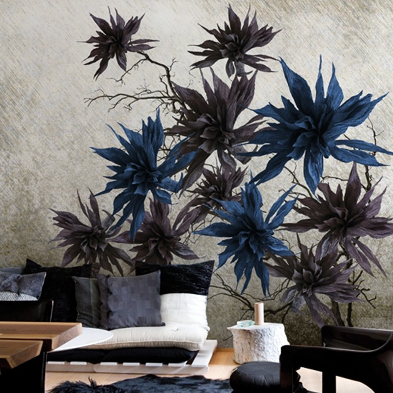 Mural Wall&Decò Contemporary Wallpapers 2014 Silver Blossom WDSB1403 A