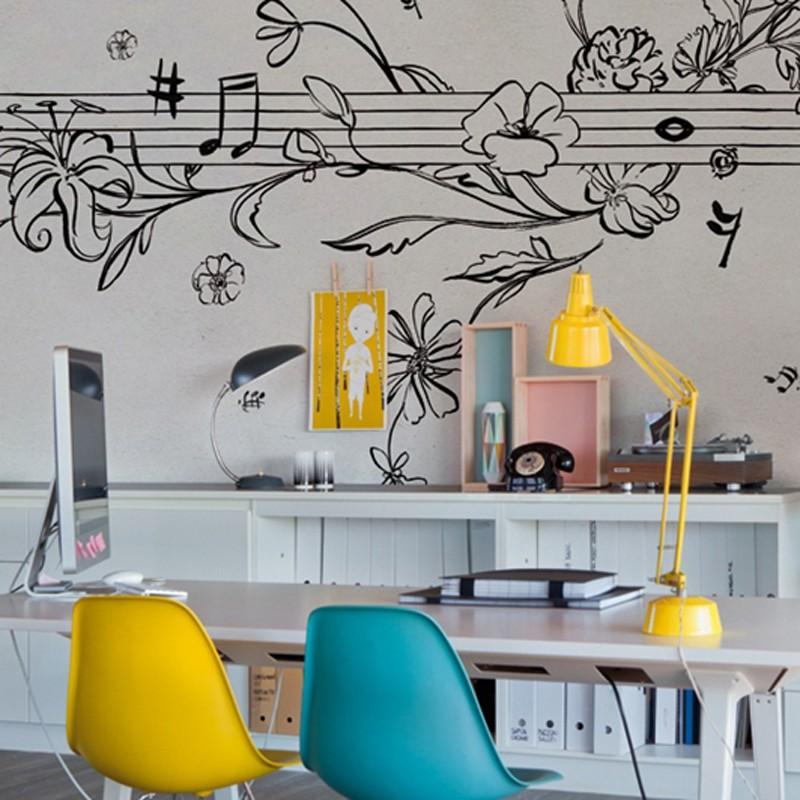 Mural Wall&Decò Contemporary Wallpapers 2014 Musik Metrik WDMM1401 A