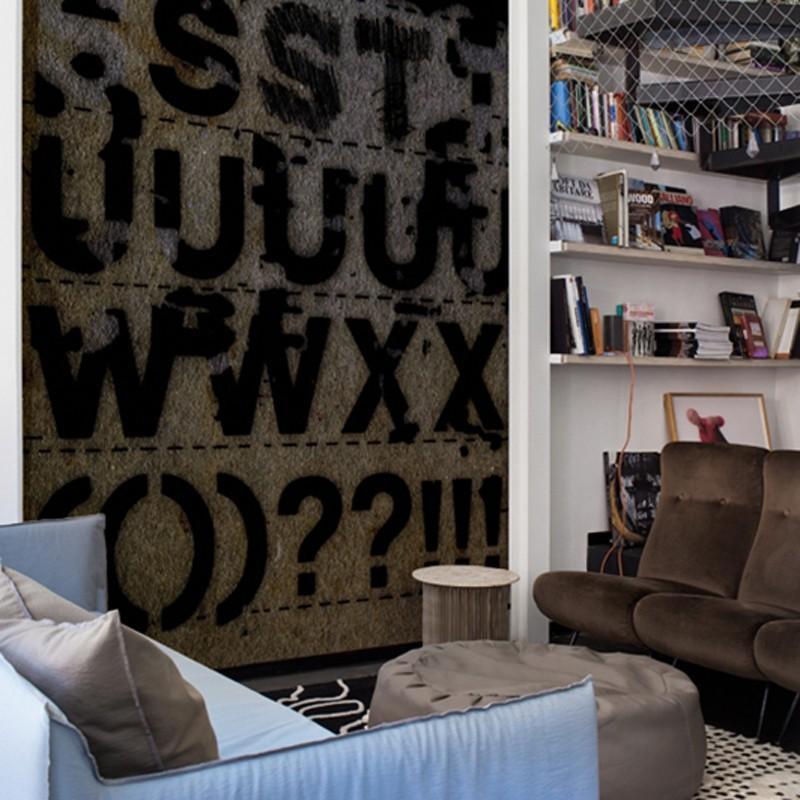 Mural Wall&Decò Contemporary Wallpapers 2014 Letra-Set WDLS1401 A