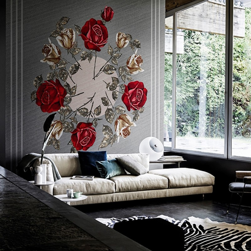 Mural Wall&Decò Contemporary Wallpapers 2016 Canvas Bouquet WDCA1601 A