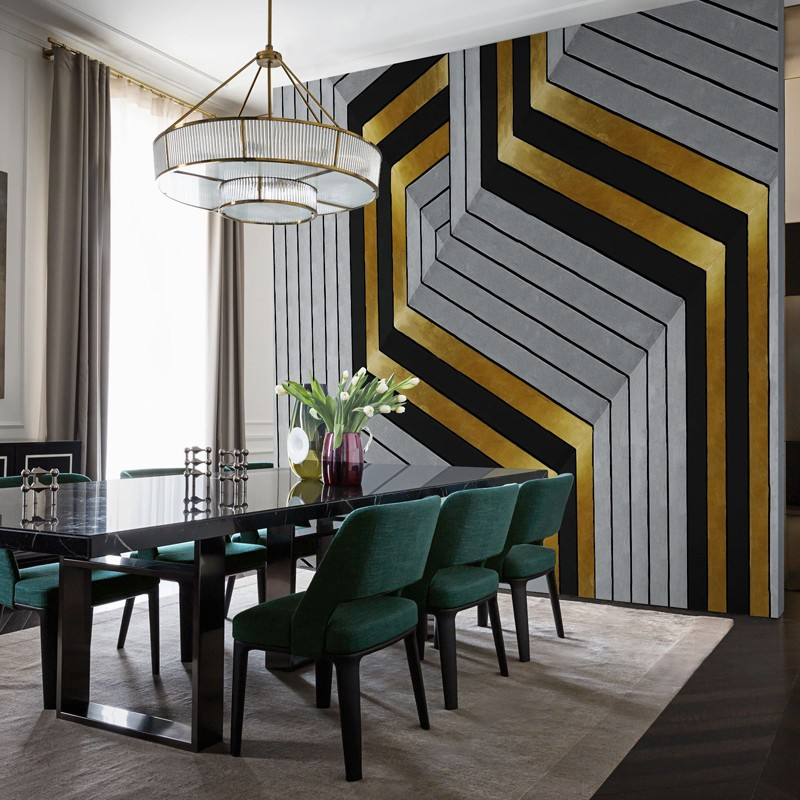 Mural Wall&Decò Contemporary Wallpapers 2017 Golden Hook WDGH1701 A