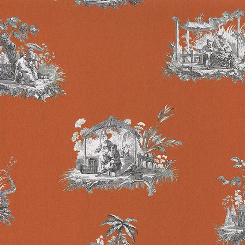 Papel pintado Casadeco Fontainebleau Chinoiserie FONT81543101