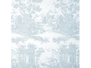 Tela Casadeco Fontainebleau Paon Reina Blanc FONT81766120