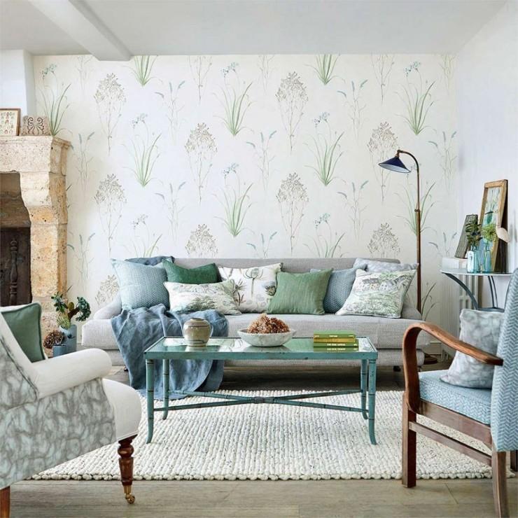 Papel pintado papel pared embleton bay papel pintado floral - Papeles pintados sanderson ...