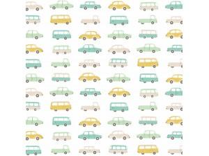 Tela infantil Casadeco Happy Dreams Allover Vintage Cars HPDM83247215