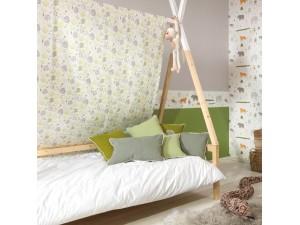 Tela infantil Casadeco Happy Dreams Allover Jungle HPDM83407227 A