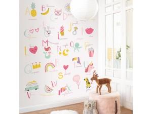 Mural infantil Caselio Girl Power Abecedaire GPR100984100