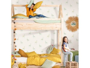 Papel pintado infantil Caselio Girl Power Lamaste GPR100757910
