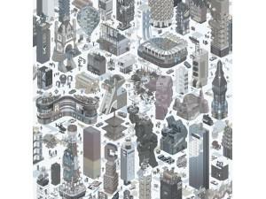 Papel pintado ICH Dans Lemur New Age Buildings Evoy 5003-3