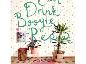Mural Eijffinger Rice 2 Eat Drink Boogie Repeat 383617