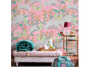 Mural Eijffinger Rice 2 Butterflies & Flowers 383619